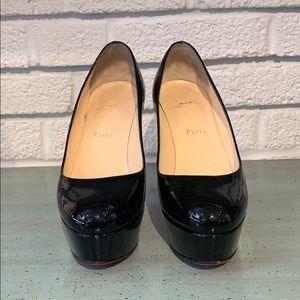 Christian Louboutin Shoes - Christian Louboutin Black Patent Leather Platforms